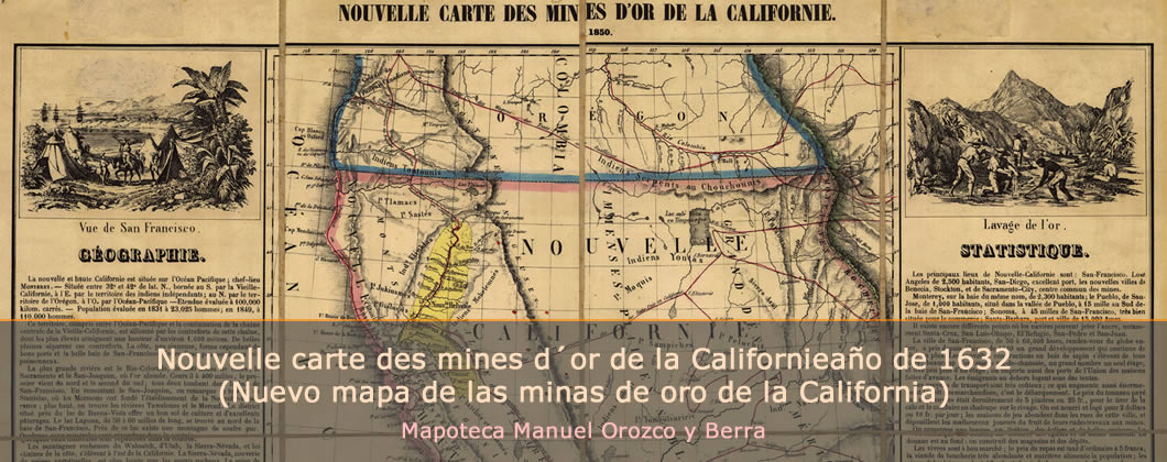 Nouvelle carte des mines d´or de la Californie